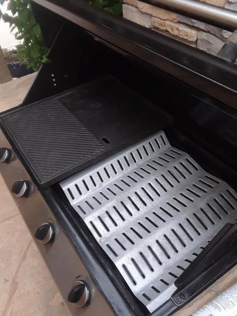 A Fire Magic BBQ grill that was just cleaned professionally in Tucson AZ.