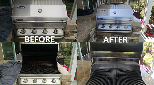 4 Grills that were just professionally cleaned in Tucson AZ.